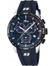 Lotus L18257-1 Mens Marc Marquez borracha azul relógio cronógrafo
