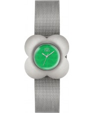 Orla Kiely OK4051 Ladies poppy relógio pulseira de aço de prata