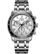 Rotary GB90169-02 Mens relógios legado relógio cronógrafo prata