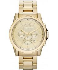 Armani Exchange AX2099 Mens banhado a ouro relógio de vestido cronógrafo