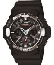 Casio GA-200-1AER Mens g-shock tempo do mundo relógio cronógrafo preto
