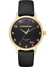 Kate Spade New York KSW1039 Ladies metro de couro preto pulseira de relógio
