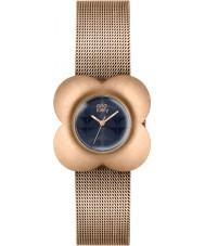 Orla Kiely OK4052 Senhoras papoula subiu banhado a ouro pulseira de relógio