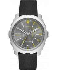 Diesel DZ1739 Mens machinus couro preto relógio pulseira