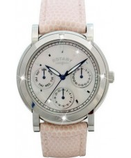 Rotary RLS00024-07 Ladies diamante conjunto relógio-de-rosa