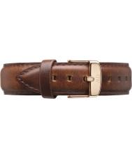 Daniel Wellington DW00200083 Dapper 19mm st mawes aumentou cinta de reposição de ouro