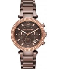 Michael Kors MK6378 Ladies parker marrom relógio cronógrafo