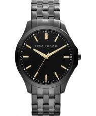 Armani Exchange AX2144 aço ip preto relógio de vestido pulseira dos homens