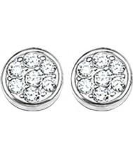 Thomas Sabo H1848-051-14 Senhoras círculos espumantes brincos de disco pave zircônia