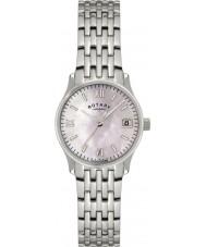 Rotary LB00792-07 Senhoras relógios de pérolas relógio de prata