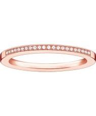 Thomas Sabo Senhoras glamour e anel de diamante rosa rosa