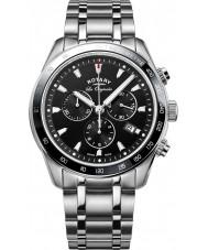 Rotary GB90169-04 Mens relógios legado relógio cronógrafo prata
