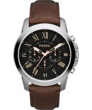 Fossil FS4813 Mens conceder marrom relógio cronógrafo preto