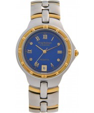 Krug-Baumen 2615DM Regatta mostrador azul pulseira de dois tons 4 diamantes